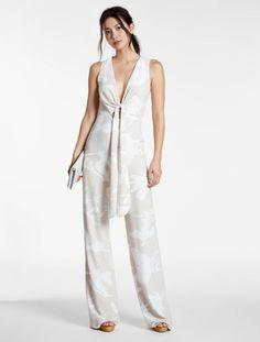 0fbd405e6f62 Plunging V Neck Printed Crepe Jumpsuit Floral Jumpsuit