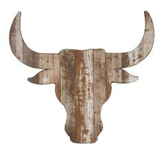 Distressed Steer Head Wooden Plaque | Kirklands