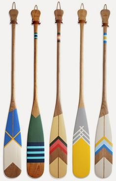 What a fun decorative element for your home. Artisan Painted Canoe Paddles from Norquay.