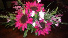 Hot Pink Sunflower Centerpiece
