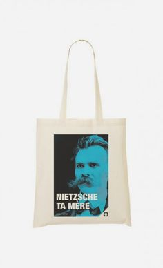 """Tote Bag Décalé """"Nietzsche Ta Mère"""""""