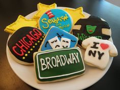 15 Theater / Broadway Cookies by cakeoptimist on Etsy