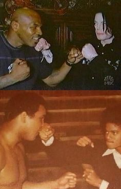 Michael Jackson the boxer - with Muhammad Ali and Mike Tyson. © Raynetta Manees, Author