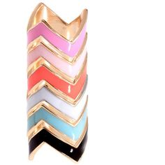 Just bought these stackable chevron rings from asos