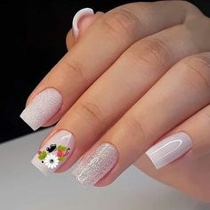 Beautiful Nail Trends and Designs to Try Beautiful Nail Trends and Designs to Try - beautiful acrylic short square nails design for french manicure nails 2 ~ Modern House Design Interesting Nail Arts for the Week Creative Nail Designs, Beautiful Nail Designs, Creative Nails, Nail Art Designs, Cute Nails, Pretty Nails, My Nails, Easy Nail Art, Cool Nail Art