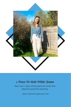 Daytime Outfit, Monochrome Outfit, Warm Spring, 2 Way, Front Tie Top, Skinny Fit Jeans, Faux Leather Jackets, Fashion Bloggers, Different Styles