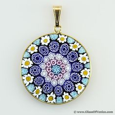 I love these pendants and wish i made more money to just order one large millefiori pendant in gold plated frame 32mm mozeypictures Choice Image