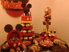 MICKEY MOUSE PARTY TABLE - MESA DE CUMPLEAÑOS MICKEY MOUSE