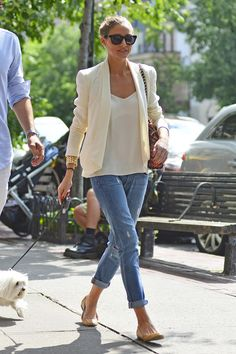 Olivia Palermo - Olivia Palermo Walks Her Dog in NYC