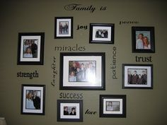 Picture wall ideas with vinyl