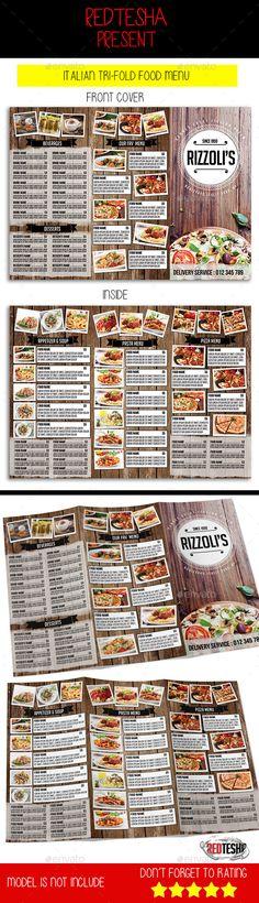 food menu tri fold brochure tri fold brochure brochures and tri fold brochure template. Black Bedroom Furniture Sets. Home Design Ideas