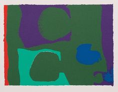 Two greens with Violet and Blue: 1967, by Patrick Heron.