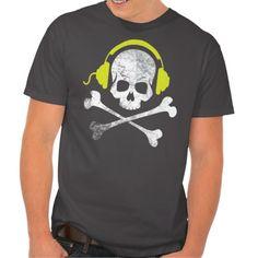 skull dj t-shirt funny skull dj