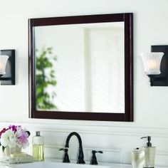 Home Decorators Collection, Madeline 26 in. Wall Mirror in Chestnut, MDWM26COM-CN at The Home Depot - Mobile