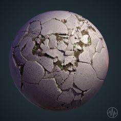 ArtStation - Cracked Concrete Substance, Nick Williams