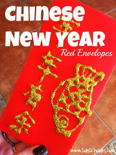 Sun Scholars: Red Envelopes for Chinese New Year... Some fun and interesting traditions from China, with photo instructions on how to share one of the most significant traditions for the Chinese New Year... the red envelope!