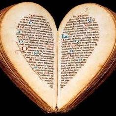 Book in a heart shape. Kewl.