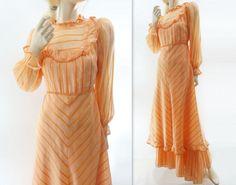 SALE 1970s Vintage Maxi Dress Victorian Boho by StarletVintage