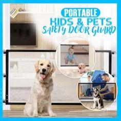 Magic Gate Dog Safeguard – Geniwo Retractable Dog Gate, Pet Barrier, Pet Gate, Bernese Mountain, Animals For Kids, Labrador Retriever, Cool Things To Buy, Magic, Puppies