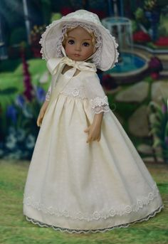 """Moonshine"" Regency Dress, Outfit for 13"" Dianna Effner Little Darling #LuminariaDesigns"