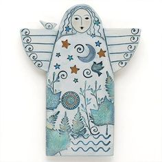 Handmade home decor My home decor guide Angel Handmade Ceramic Angel Home Decor Wall Art by DavisVachon Craft Stick Crafts, Paper Crafts, Clay Angel, Pottery Angels, Ceramic Angels, Craft Show Displays, Theme Noel, Clay Ornaments, Diy Origami