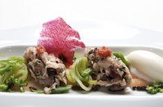 Tartar de bonito, tomate y verduras.  Bal D'Onsera Restaurante con estrella michelin en Zaragoza. #baldonsera