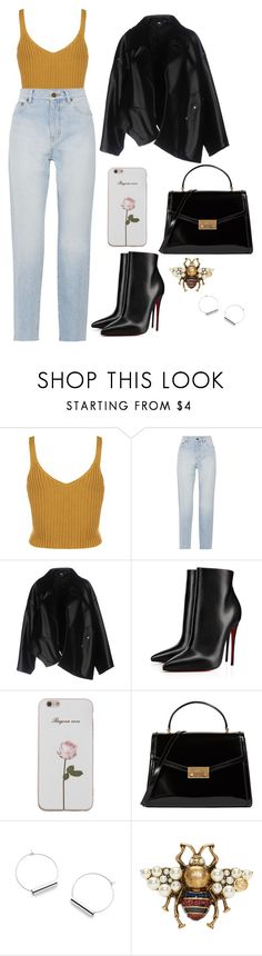 """""""Untitled #507"""" by catarina-de-sousa-lopes on Polyvore featuring Yves Saint Laurent, Comme des Garçons, Christian Louboutin, Tory Burch and Gucci"""