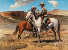 ROBERT WESLEY AMICK (American, 1879-1969). On the Range. Oil on