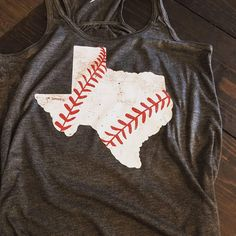 Texas State Baseball Shirt, State Baseball T-Shirt, State Shirts, Baseball Mom Shirts, Personalized Baseball Shirt Designs, Baseball Mom Shirts, Baseball Tank, Texas Baseball, Texas Shirts, Senior Shirts, Spirit Shirts, Team Mom, Fan Shirts