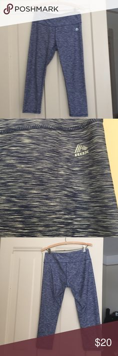 RBX workout Capri leggings Jean look Blue and white jean like colors ! These RBX are perfect for any work out ! Size M. Offers accepted ! Gym, yoga, rock climbing, pilates, and dance wear. RBX Pants Leggings
