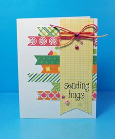 Lawn Fawn Pink Lemonade paper collection _ hugs by Lynnette. So Much to Say