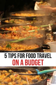 Let us show you how to get the most for your money of a food travel vacation. We've done all the travel tips and hacks and travel tricks and we want to share them with you. Whether you're on a road trip or staying a month these tips with help you save money on your next trip. #FoodTravel #CulinaryTravel #TravelTips #TravelHacks #BudgetTravel