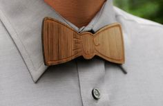 Wooden Laser Cut Bow Tie  Handsome Custom by AFlutteredCollection, $15.00