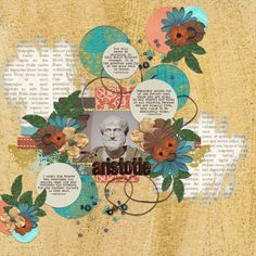 Layout by Susan Godfrey http://www.susangodfrey.com  CREATED FOR: Art Journal Caravan 2013 Week 31 {Port of Call: Ancient Greece: Famous People}