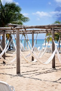 Relax in a Beach Hammock - Cozumel, Mexico. I hung out in these exact ones on Playa Mia beach!