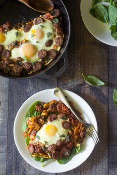 (Omit oil; use 8 oz. nitrate-free sausage and 2 eggs to serve 4) Sausage Pizza Sweet…