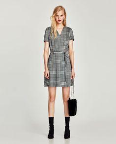 Checked Crossover Dress Mini
