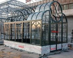 Unique Contemporary Style Cast Iron Garden Greenhouse or Conservatory 50-03358