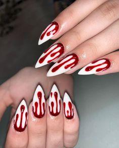 Ongles Gel Halloween, Halloween Acrylic Nails, Fall Acrylic Nails, Acrylic Nail Designs, Best Nail Art Designs, Cool Designs, Holloween Nails, Cute Halloween Nails, Halloween Nail Designs