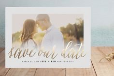 Big News Foil-Pressed Save the Date Cards by roxy at minted.com #wedding #weddingsanity