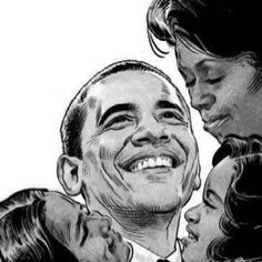 Artwork - President Obama and his beautiful family!!!