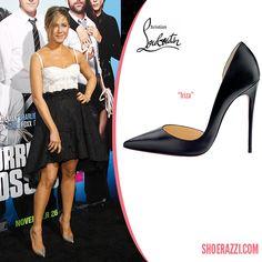 Jennifer Aniston in Christian Louboutin Iriza Patent Leather d ...
