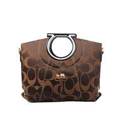 c7fe2ee30b69 Coach Logo Monogram LZ510 Hobo Bag In Coffee Designer Handbags On Sale