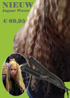 Nieuw in ons assortiment  ~~~De Waver~~~  De Waver van Jaguar maakt soepele golven in het haar. Hier mee creëer je in weinig tijd een prachtige Retro-look. De Waver heeft een traploos instelbare temperatuur van 140 tot 210ºC, hierdoor is hij geschikt voor dik en dun haar. De warmte platen hebben een hoogwaardige keramische coating. Daarnaast maakt de 3 meter lange kabel met draaikoppeling hem handig in het gebruik.