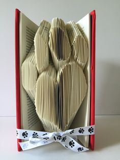 Vet Party Decoration Dog Paw Print Book Fold Animal Lover Home