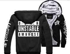 Dean Ambrose Sweater Hoodies Thickening Plus velvet jacket black: Amazon.co.uk: Sports & Outdoors