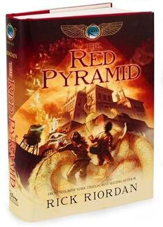 """The Red Pyramid"" by Rick Riordan, author of the Percy Jackson series."