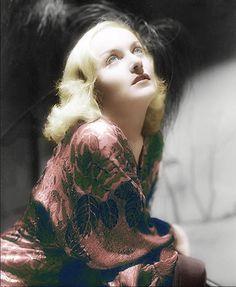 In color Carole Lombard