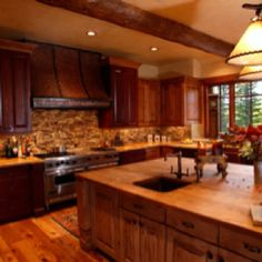 Natural stone warms the heart of your home!