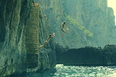 water, stair, dream, the ocean, sea, leap of faith, place, friend, bucket lists